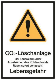 Kombischild ASR A1.3 [W001]/BGV A8 [W00] CO2-Löschanlage Bei Feueralarm oder...etc.