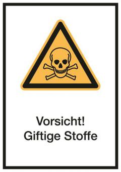Kombischild ASR A1.3/ISO 7010 [W016] Vorsicht! Giftige Stoffe