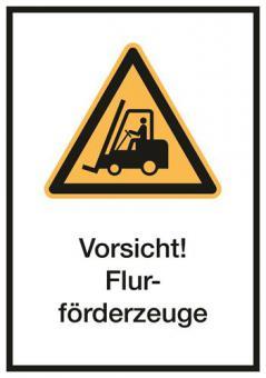 Kombischilder ASR A1.3 / ISO 7010 [W014] Vorsicht! Flurförderzeuge