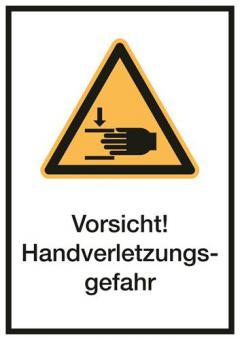 Kombischilder ASR A1.3/ISO 7010 [W024] Vorsicht! Handverletzungsgefahr