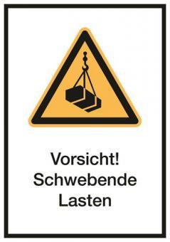 Kombischilder ASR A1.3 / ISO 7010 [W015] Vorsicht! Schwebende Lasten