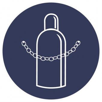GBP18] Druckgasflasche durch Kette sichern