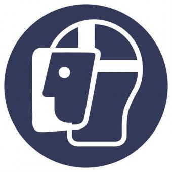 ASR A1.3 [M013] Gesichtsschutz benutzen