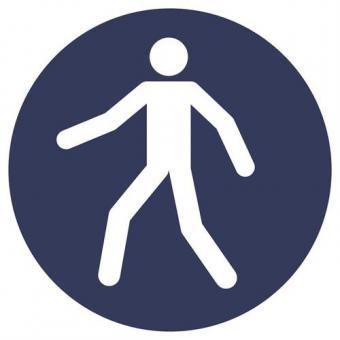 ASR A1.3 [M024] Fußgängerweg benutzen