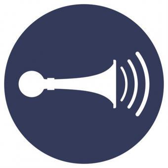 ISO 7010/M029 Akust. Signal geben Folie, Ø 200 mm