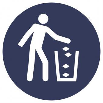 ISO 7010 [M030] Abfallbehälter benutzen