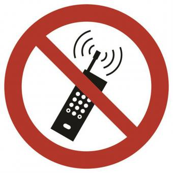 ASR A1.3 [P013]/BGV A8 [P018] Eingeschaltete Mobilfunktelefone verboten
