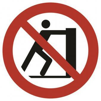 ISO 7010 [P017] Schieben verboten