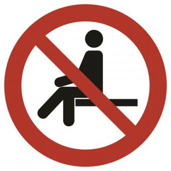 ISO 7010 [P018] Sitzen verboten