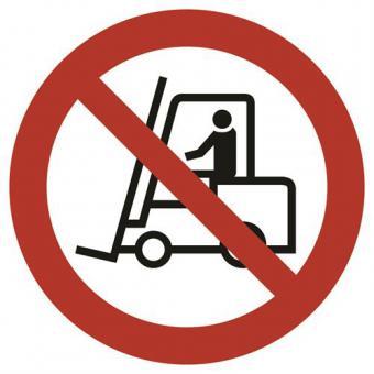 BGV A8 [P07] Für Flurförderzeuge verboten