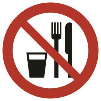 BGV A8 [P19] Essen und Trinken verboten