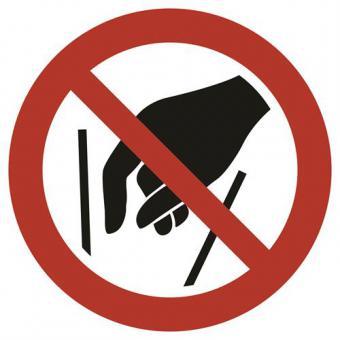Hineinfassen verboten ASR A1.3 / ISO 7010 (P015)