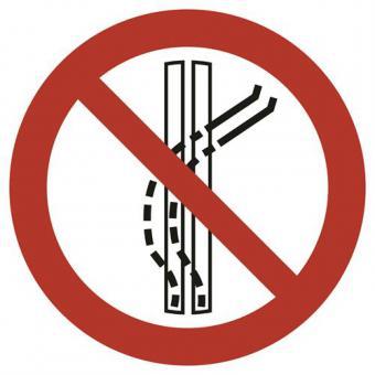 ISO 7010 [P037] Schleppspur verlassen verboten