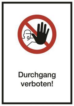 Kombi ASR A1.3 [D-P006]/BGV A8 [P06] Durchgang verboten!
