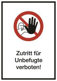 Kombi ASR A1.3 [D-P006]/BGV A8 [P06] Zutritt für Unbefugte verboten!