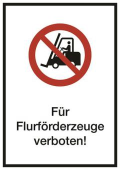 Kombischild ASR A1.3/ISO 7010 [P006] Für Flurförderzeuge verboten