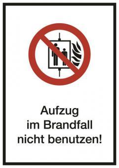 Kombischild ASR A1.3 [P020] Aufzug im Brandfall nicht benutzen!