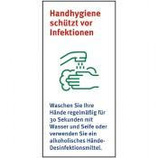 Handhygiene schützt vor Infektionen, Folie