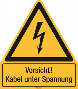 Kombischild ASR A1.3 [W012]/BGV A8 [W08] Vorsicht! Kabel unter Spannung