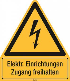 Kombischild ASR A1.3 [W012]/BGV A8 [W08] Elektr. Einrichtungen Zugang freihalten