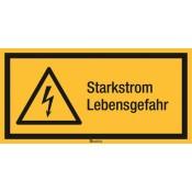 Kombischilder ASR A1.3 [W012]/BGV A8 [W08] Starkstrom Lebensgefahr