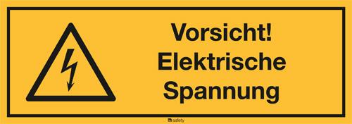 Kombischild ASR A1.3 [W012]/BGV A8 [W08], Vorsicht elektrische Spannung