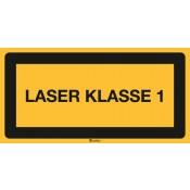 Textschild: Laser Klasse 1