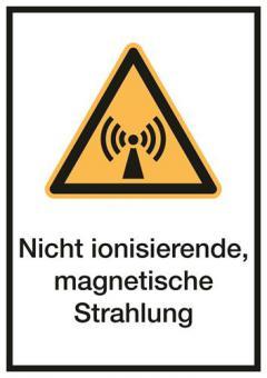 Kombischild ASR A1.3 / ISO 7010 [W005] Nicht ionisierende, magnetische Strahlun 210mm | 297mm | Hart-PVC | Stück