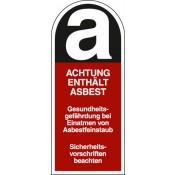 Asbest-Etiketten