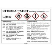 Kraftstoffetiketten nach GHS Ottokraftstoff