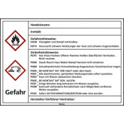 Kraftstoffetiketten nach GHS Ätzend