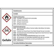 Kraftstoffetiketten nach GHS Giftig/leicht entzündlich