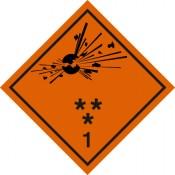 Gefahrgutkennzeichnung Klasse 1 Explosive Stoffe*