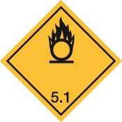 Gefahrgutkennzeichnung Klasse 5 Unterklasse 5.1/Oxidierende Stoffe