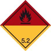 Gefahrgutkennzeichnung Klasse 5 Unterklasse 5.2/Organische Peroxide