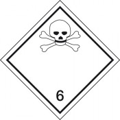 Gefahrgutkennzeichnung Klasse 6 Unterklasse 6.1/Giftige Stoffe