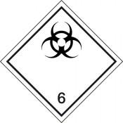 Gefahrgutkennzeichnung Klasse 6 Unterklasse 6.2/Ansteckungsgefährliche Stoffe
