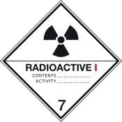 Gefahrgutkennzeichnung Klasse 7 Kategorie 1 / Radioaktive Stoffe