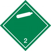 Gefahrgutkennzeichnung Klasse 2 weiß, Unterkl. 2.2/Nicht entzünbare, nicht giftige Gase
