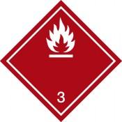 Gefahrgutkennzeichnung Klasse 3 weiß Entzündbare Flüssigkeiten