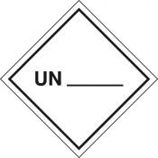 Gefahrgutkennzeichnung UN (Zur Selbstbeschriftung)
