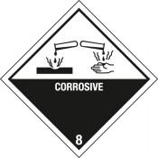Gefahrgutkennzeichnung Klasse 8 Ätzende Stoffe / Corrosive