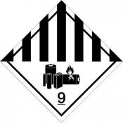 Gefahrgutkennzeichnung Klasse 9 Lithiumbatterien