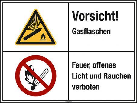 Kombischild Warnzeichen ASR A1.3 W029 Folie, Länge: 200 mm, Höhe: 150 mm