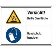 Kombischild mit Warnzeichen W017 Folie, Länge: 200 mm, Höhe: 150 mm