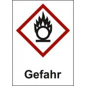 GHS 03 Flamme über Kreis, Text: Gefahr