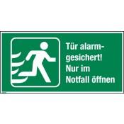 Notausgangbeschilderung für Türen mit Türwächter