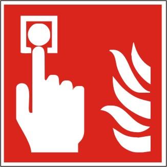 Brandschutzschild Brandmelder nach ISO 7010 / F 005
