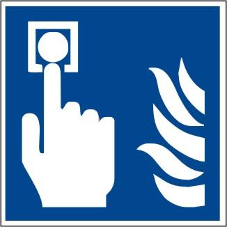 Brandschutzschild Brandmelder manuell nach ISO 7010