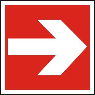 Brandschutzschild Richtungsangabe links/rechts  BGV A8 / F 01